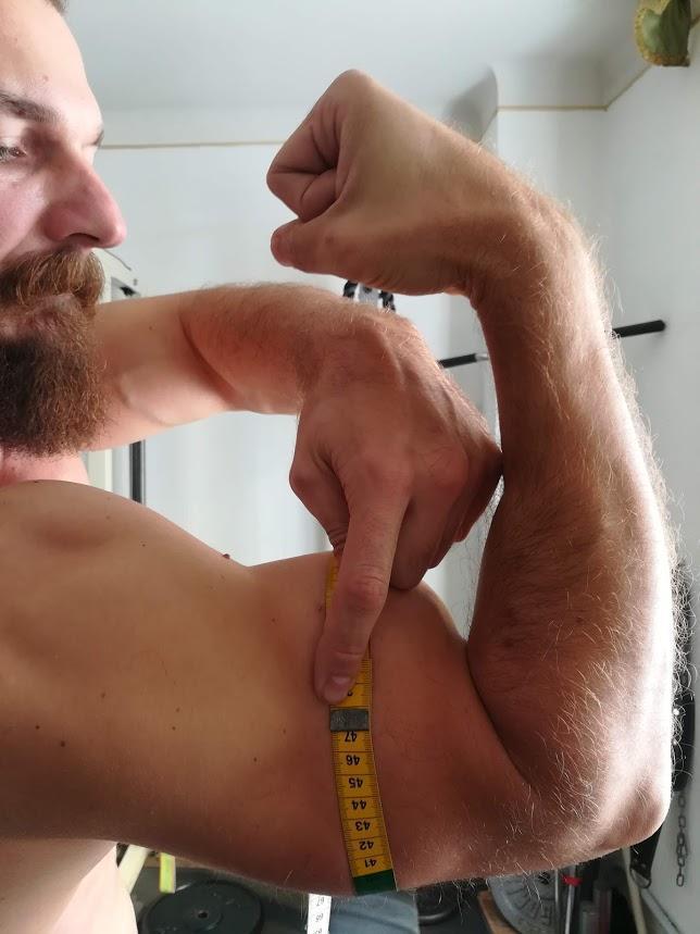 46.5 cm de tour de bras