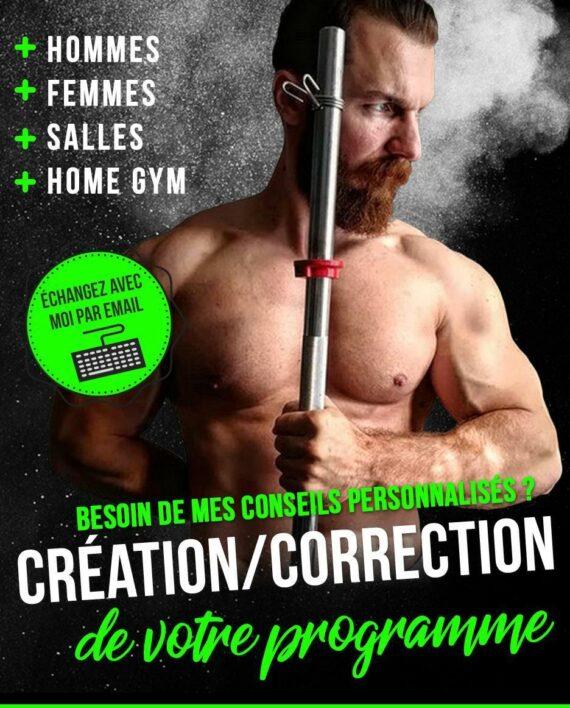 Création - Correction personnalisée de programme de musculation